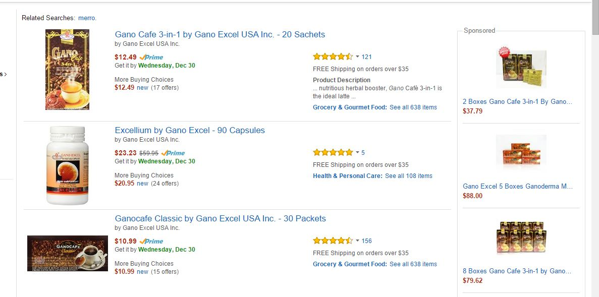 gano excel products on amazon
