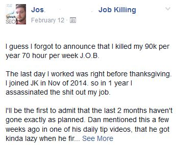 job killing online coaching