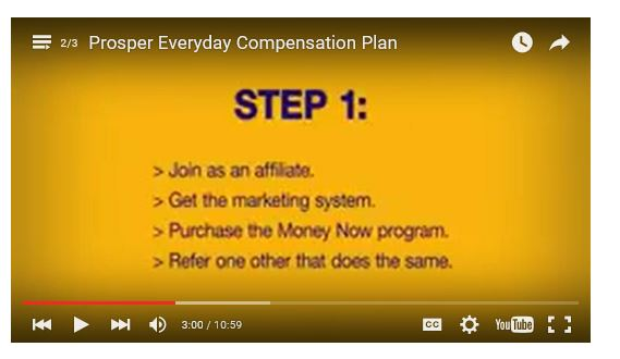 prosper everyday compensation plan