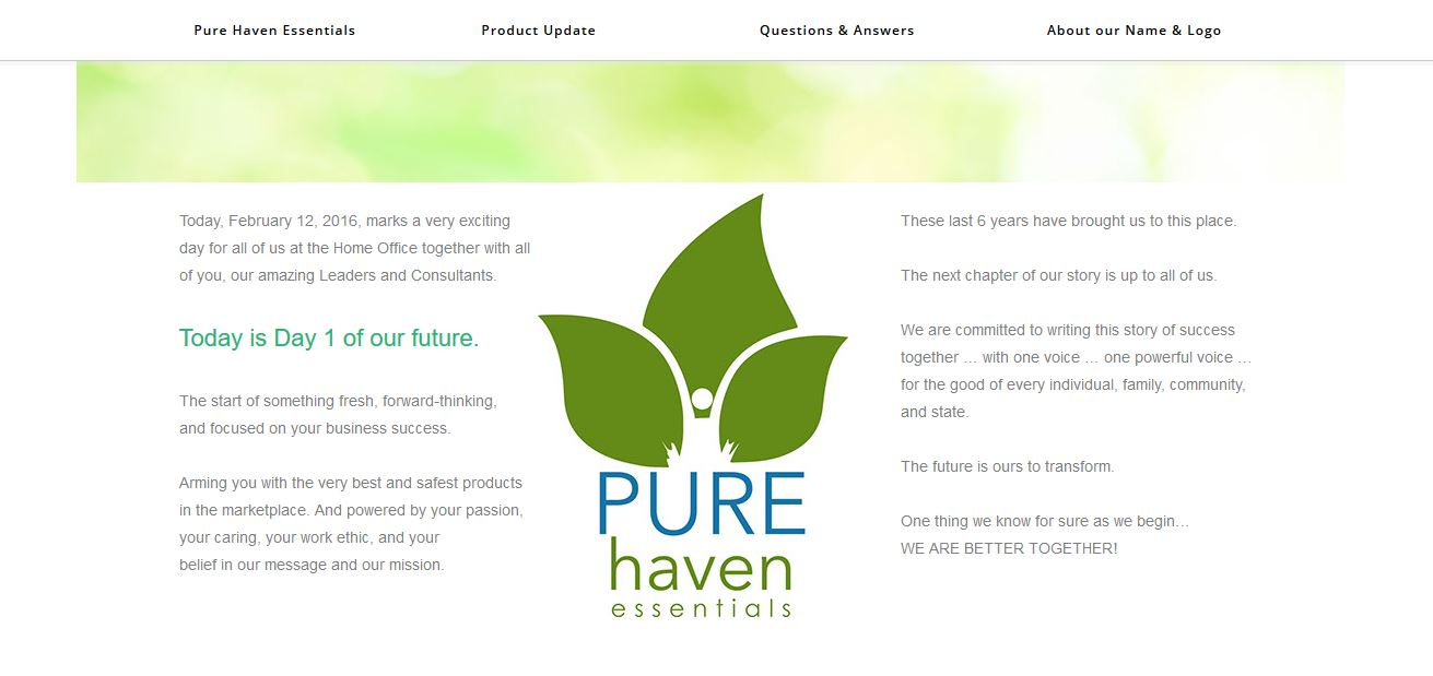 pure haven essentials website